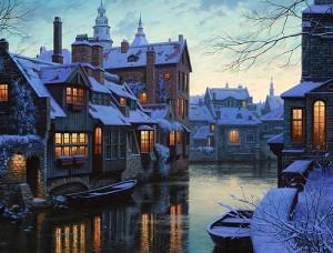 Invierno en Brujas, Bélgica