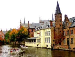 Rio Zwyn en Brujas, Bélgica