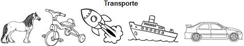 Clase Transporte y los objetos creados