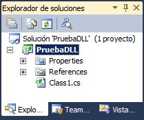 explorador de soluciones VS2010 estructura
