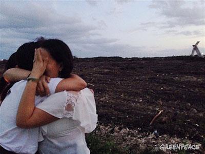 Ciudadanos lloran el desastre