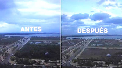 Malecón de Tajamar antes y después