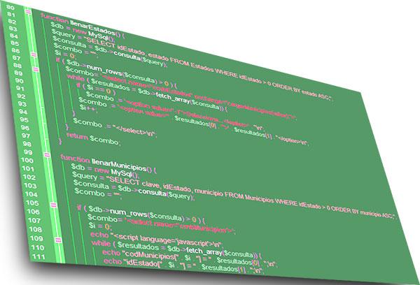 Lenguajes de programación php y mysql