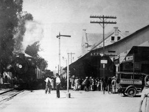 Estación del tren entre 1880-1920.