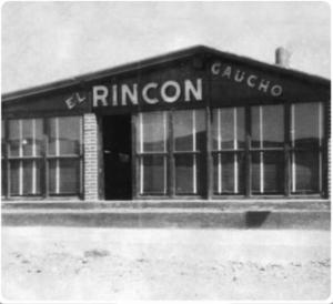 Rincón Gaucho poco despues de su inauguración en 1958. Fundado por los jugadores argentinos del León, Oscar Nova y Marcos Aurelio