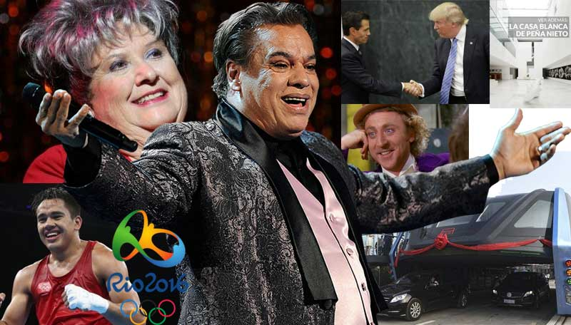 agosto,china,metrobus,juegos olimpicos,rio 2016,brasil,michael phelps,chachita,italia,terremoto,juan gabriel,gene wilder,donald trump