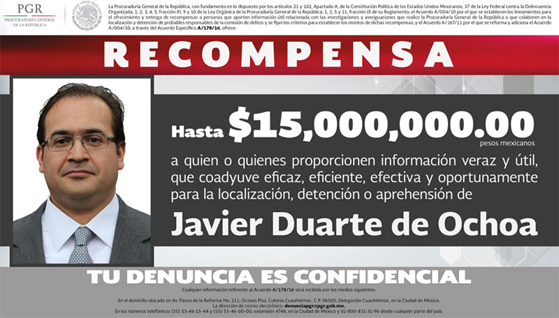 corrupcion mexicana javier duarte pri padres pgr veracruz dinero