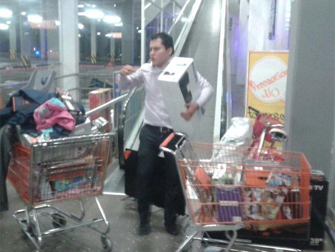 Saqueo de la tienda Chedraui Estado de México