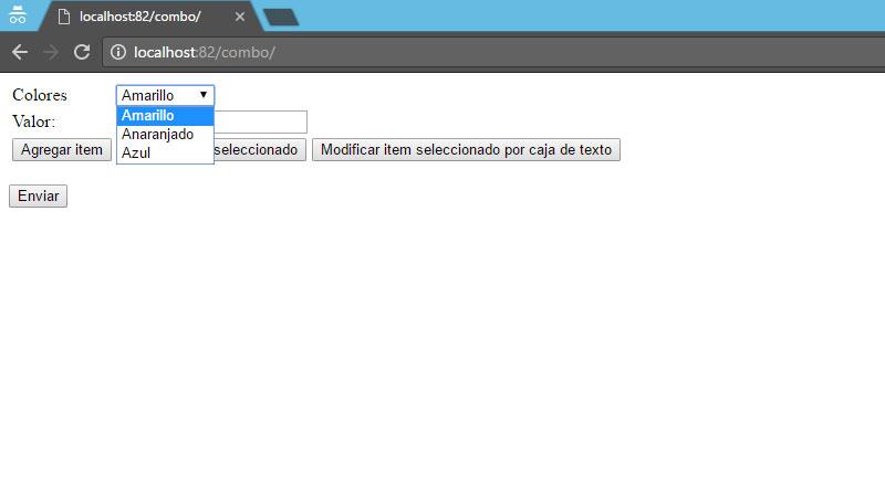manejo de select en html javascript php y MySql combo items lenguajes de programacion